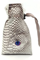 Old School Dice & Accesories Dragon Eye Dice Bag: Silver Dragon