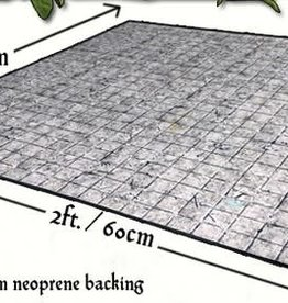 Flagstone Floor Gaming Mat 2x2