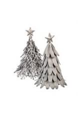 Evergreen Enterprises 2 Asst Silver Metal Christmas Tree