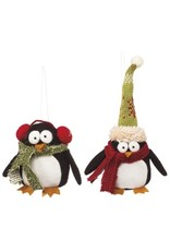 Mudpie Plush Penguin Ornament, 12 Asst