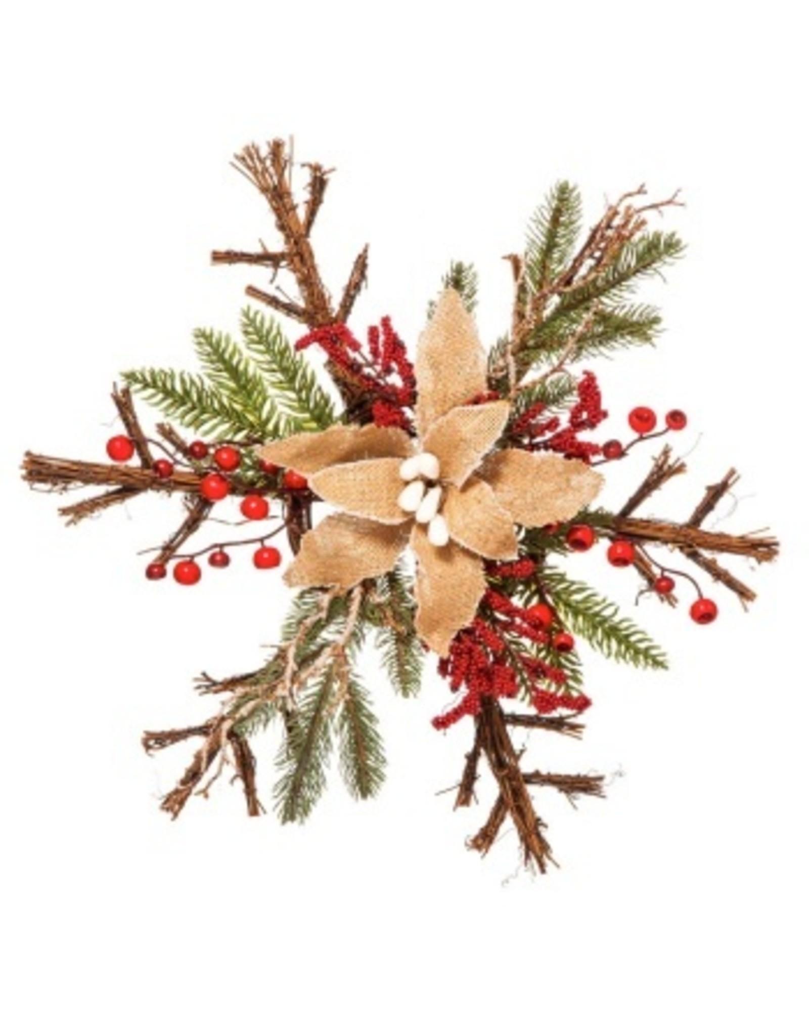 Evergreen Enterprises Burlap Holiday Snowflake Decor