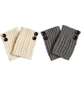 Evergreen Enterprises Double Button Boot Cuff, Asst. Ivory/Charcoal