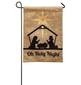 Evergreen Enterprises Oh Holy Night Burlap Garden Flag