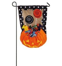 Evergreen Enterprises Burlap Halloween Candy Treat Flag
