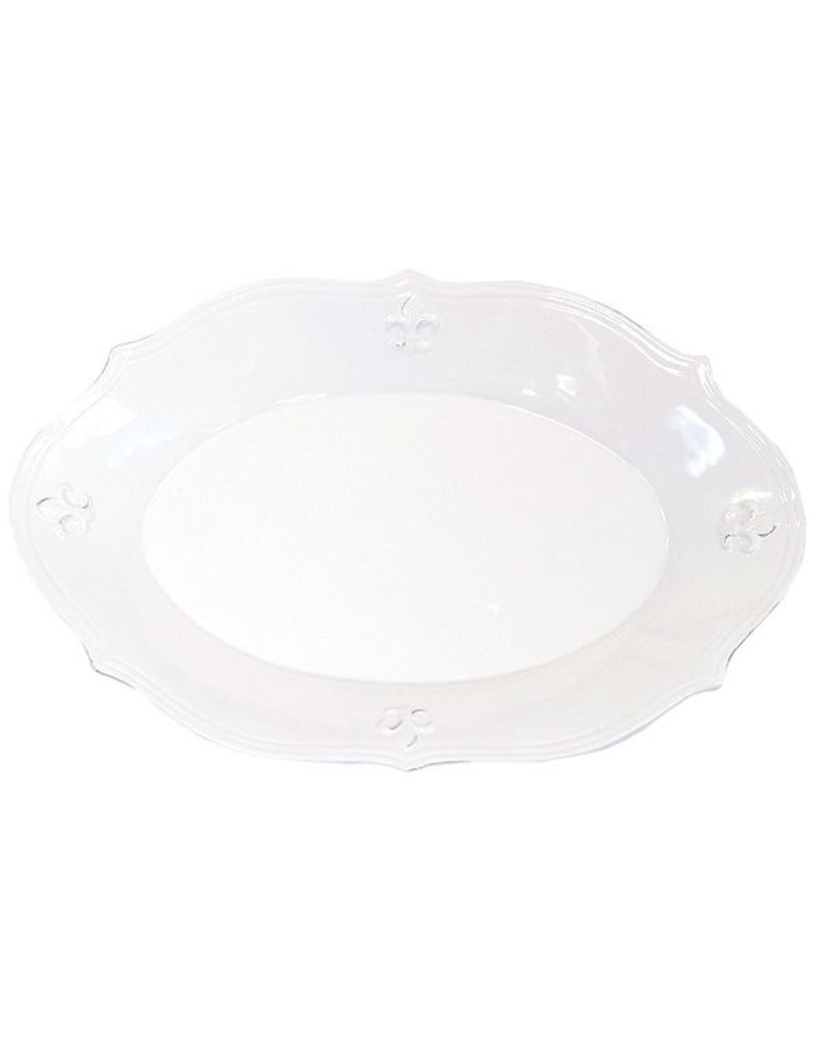 "The Royal Standard LaFleur Platter-Oval (White) Size 15"""