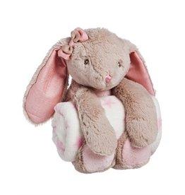 Evergreen Enterprises Cuddly Rabbit Stuffed Animal With Blanket, Pink