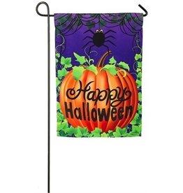 Evergreen Enterprises Halloween Spider Garden Flag