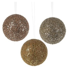 CBK-MIDWEST Beaded Ball Plastic Ornament 3A
