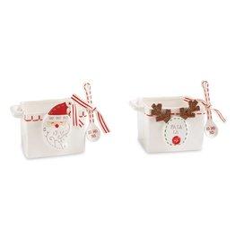 Mudpie Santa Nut Candy Bowl