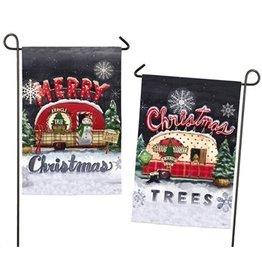 Evergreen Enterprises Tree Lot Plaid Christmas & Merry Christmas Garden Flag