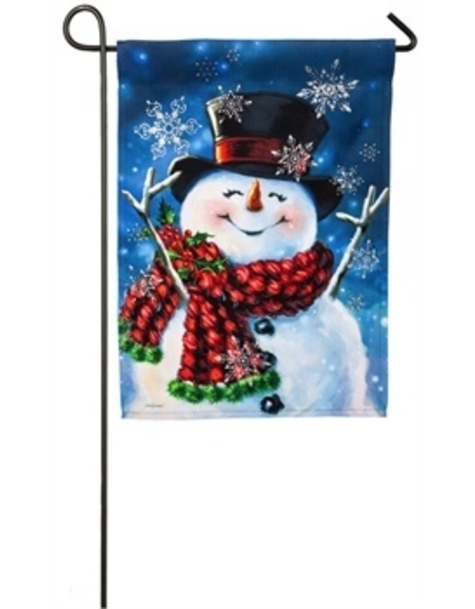 Evergreen Enterprises Joyful Jolly Snowman Garden Flag