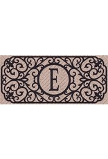 Evergreen Enterprises Filigree Monogram Embossed Sassafras Switch Mat, Letter E