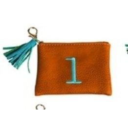Evergreen Enterprises Vegan Leather Initial Pouch Brown Letter L