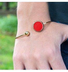 Mainstreet Collection Red Enamel Bracelet