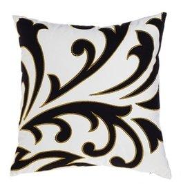 Evergreen Enterprises Black & White Scroll Outdoor Pillow