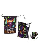 Evergreen Enterprises Halloween Bat, Fright This Way Garden Suede Flag