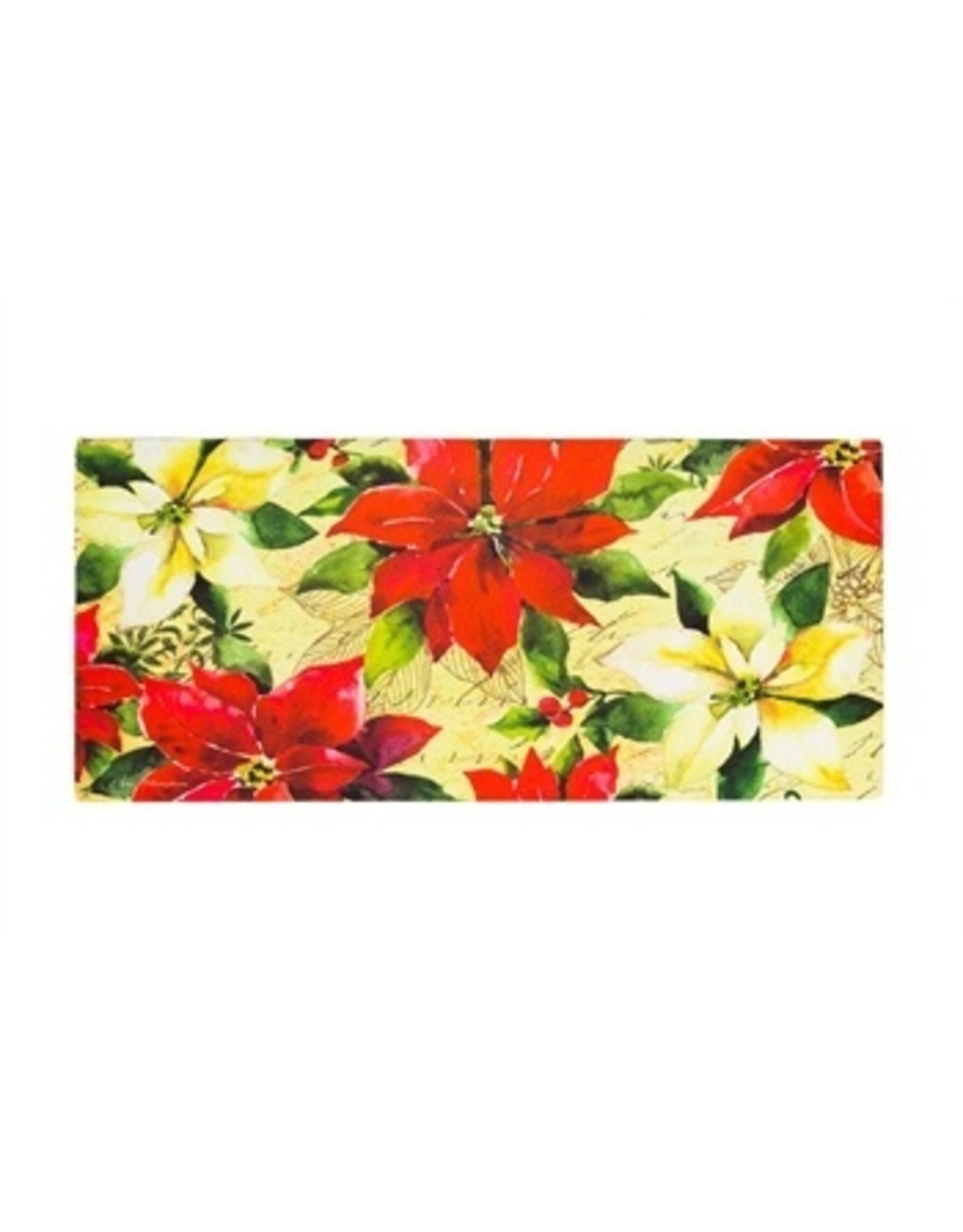 Evergreen Enterprises Watercolor Poinsetta Sassafras Switch Mat