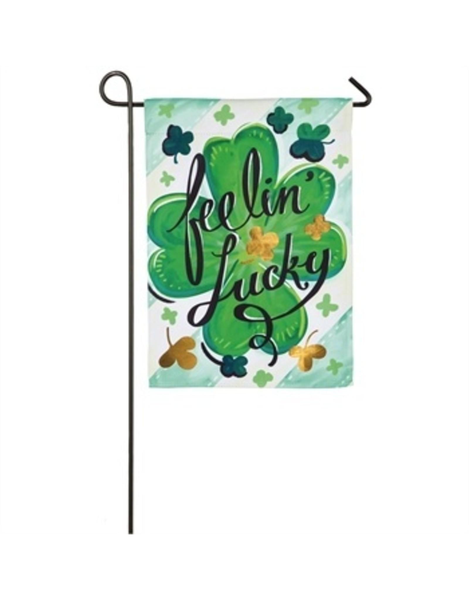 Evergreen Enterprises Feelin Lucky Garden Suede Flag
