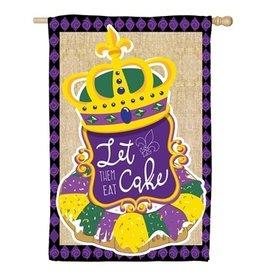 Evergreen Enterprises King Cake House Burlap Flag