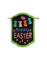 Evergreen Enterprises Happy Easter Chalkboard Banner House Burlap Flag