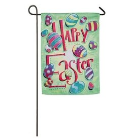 Evergreen Enterprises Happy Easter Garden Suede Flag