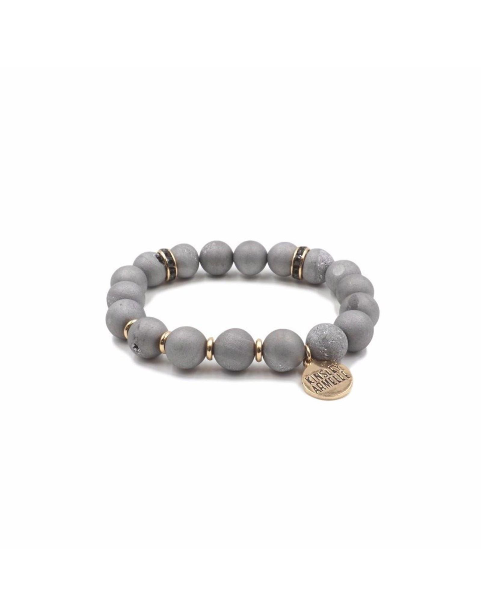 Kinsley Armelle Slate Bracelet-Geode Collection