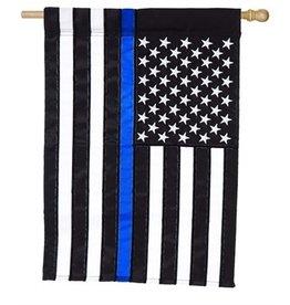 Evergreen Enterprises Thin Blue Line House Applique Flag