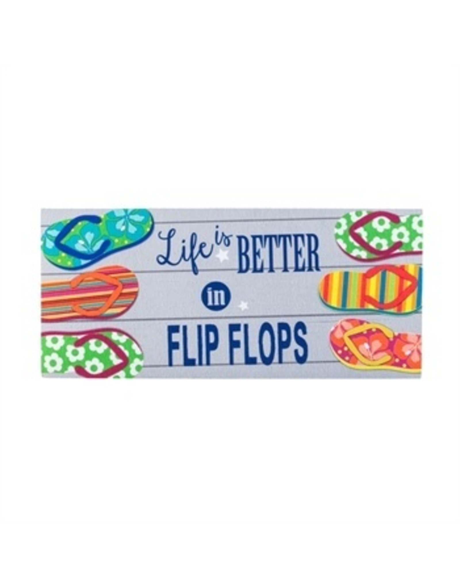 Evergreen Enterprises Life Is Better In Flip Flops Sassafras Switch Mat