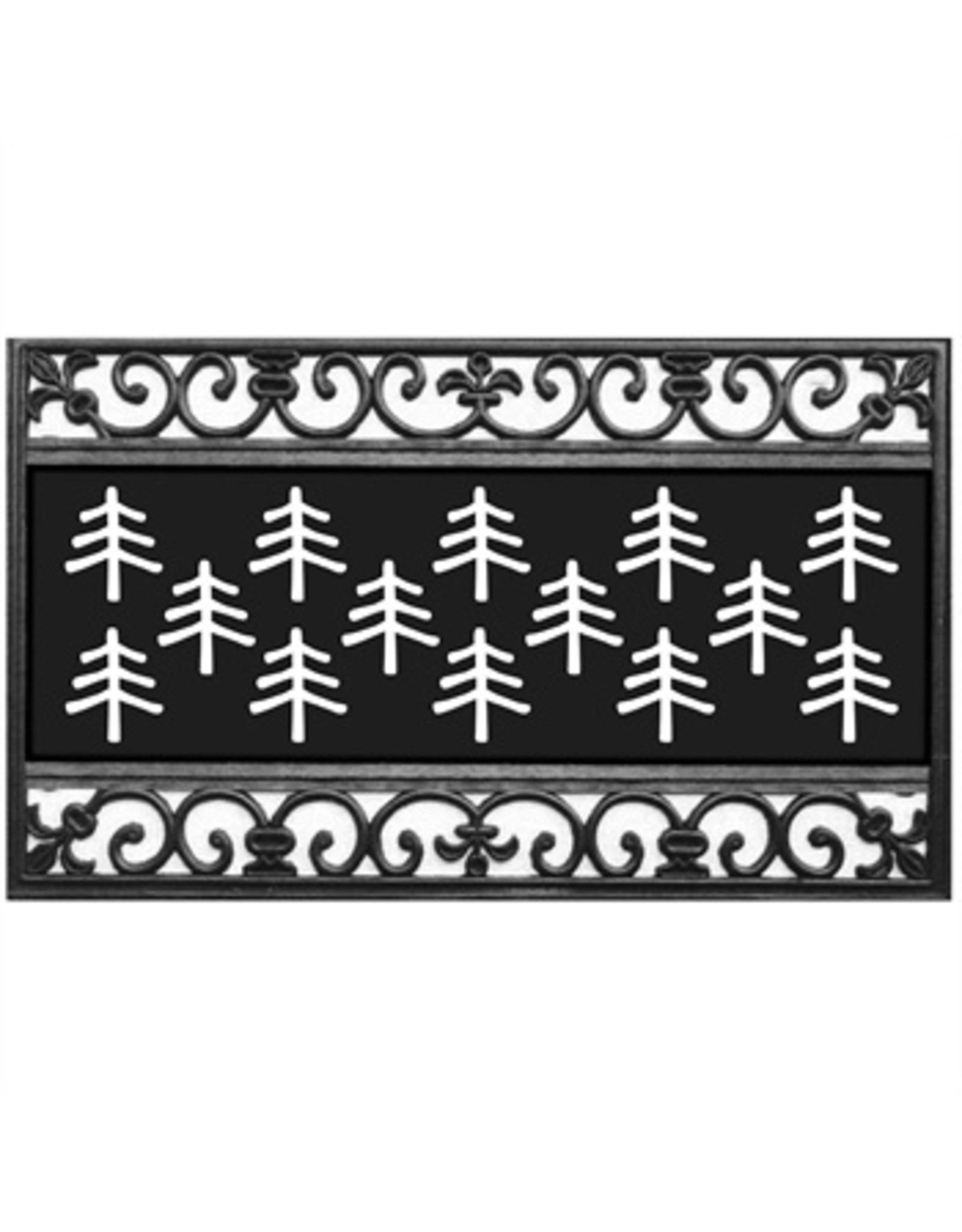 Evergreen Enterprises Fleur Scroll Coir Switch Mat Tray Kensington