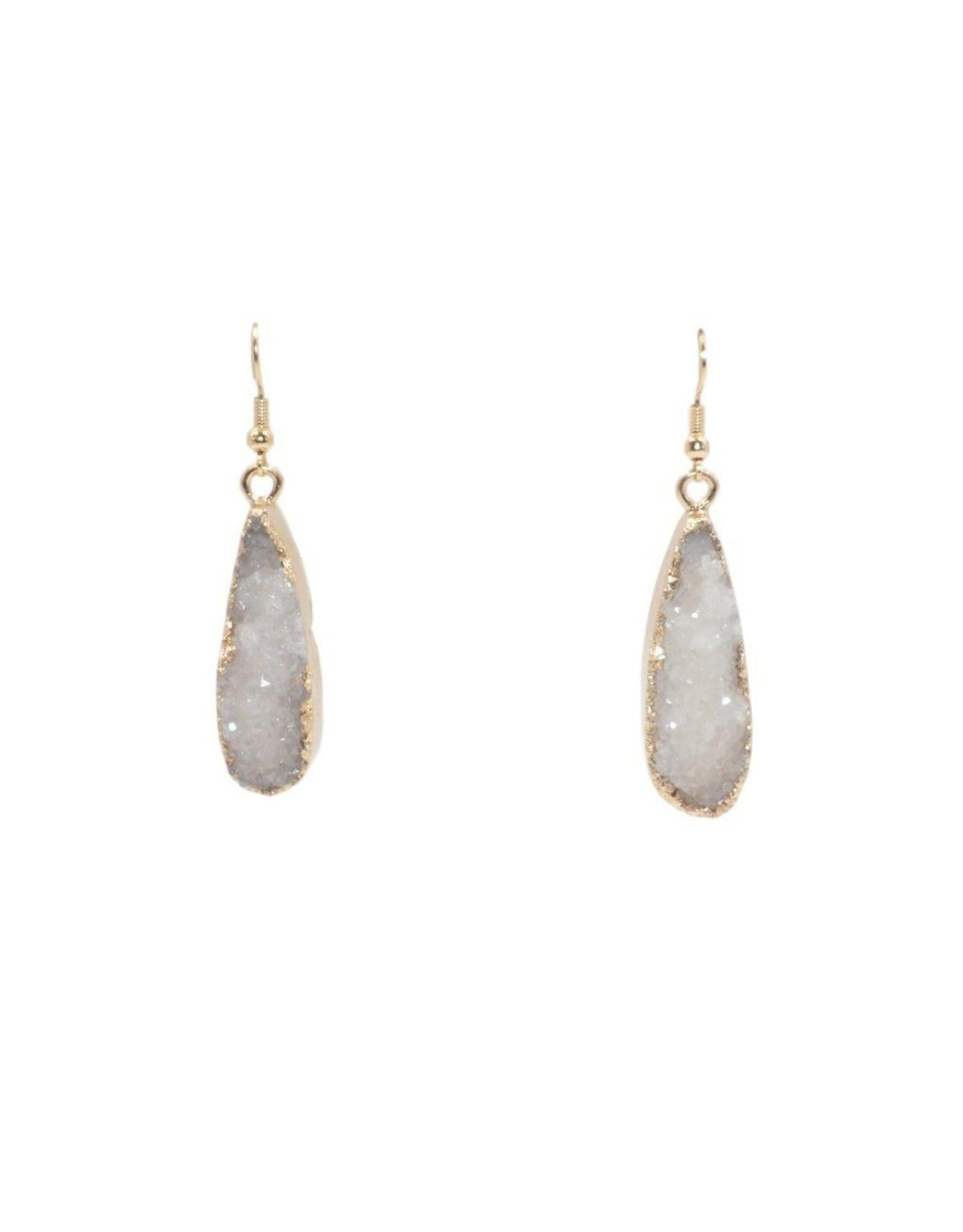 Kinsley Armelle Druzy Collection - Ice Drop Earrings