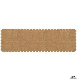 Mainstreet Collection Scallop Burlap Table Runner