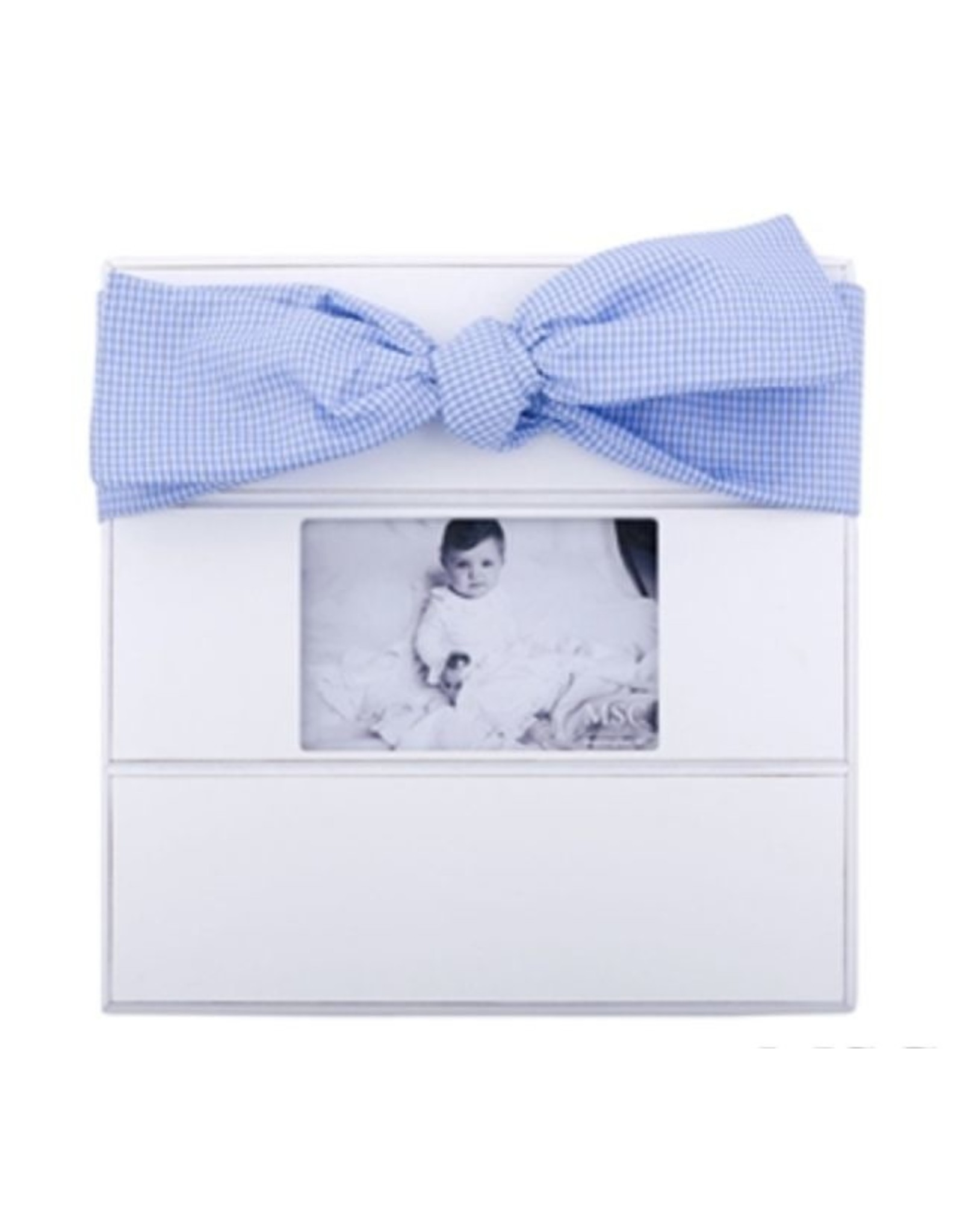 Mainstreet Collection Light Blue Gingham Bow Frame