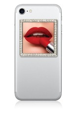 iDecoz Square Selfie Mirror-Silver/Clear Crystals