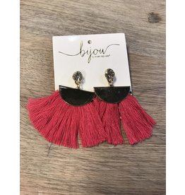 Mary Square Aruba Gold/Bright Pink Earrings