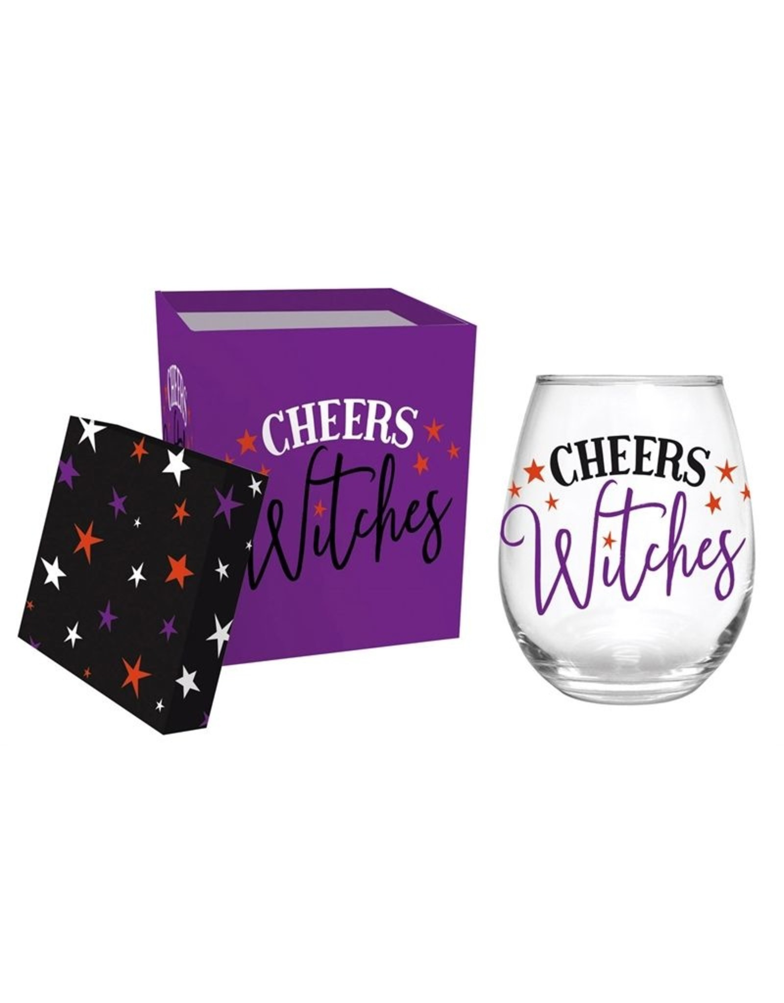 Evergreen Enterprises Cheers Witches Stemless Wine Glass W/Box