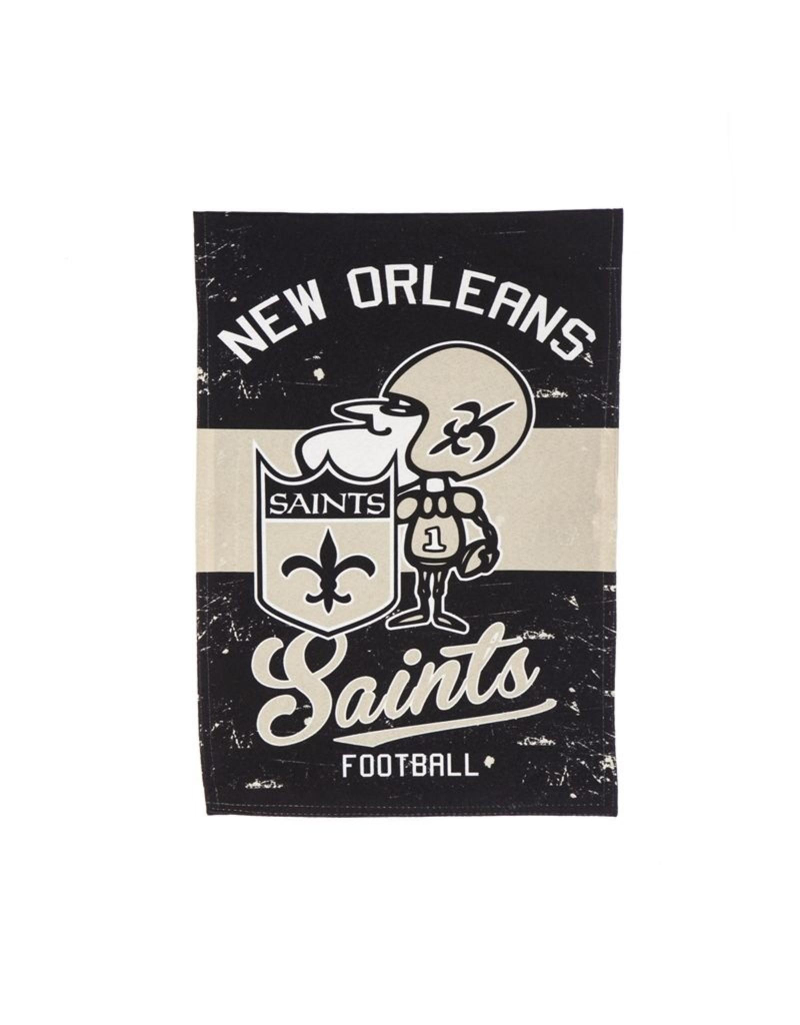 Evergreen Enterprises New Orleans Saints Vintage Linen Garden Flag