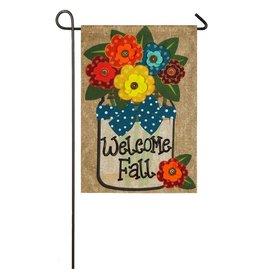 Evergreen Enterprises Welcome Fall Garden Burlap Flag
