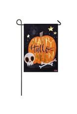 Evergreen Enterprises Halloween Skull Garden Suede Flag