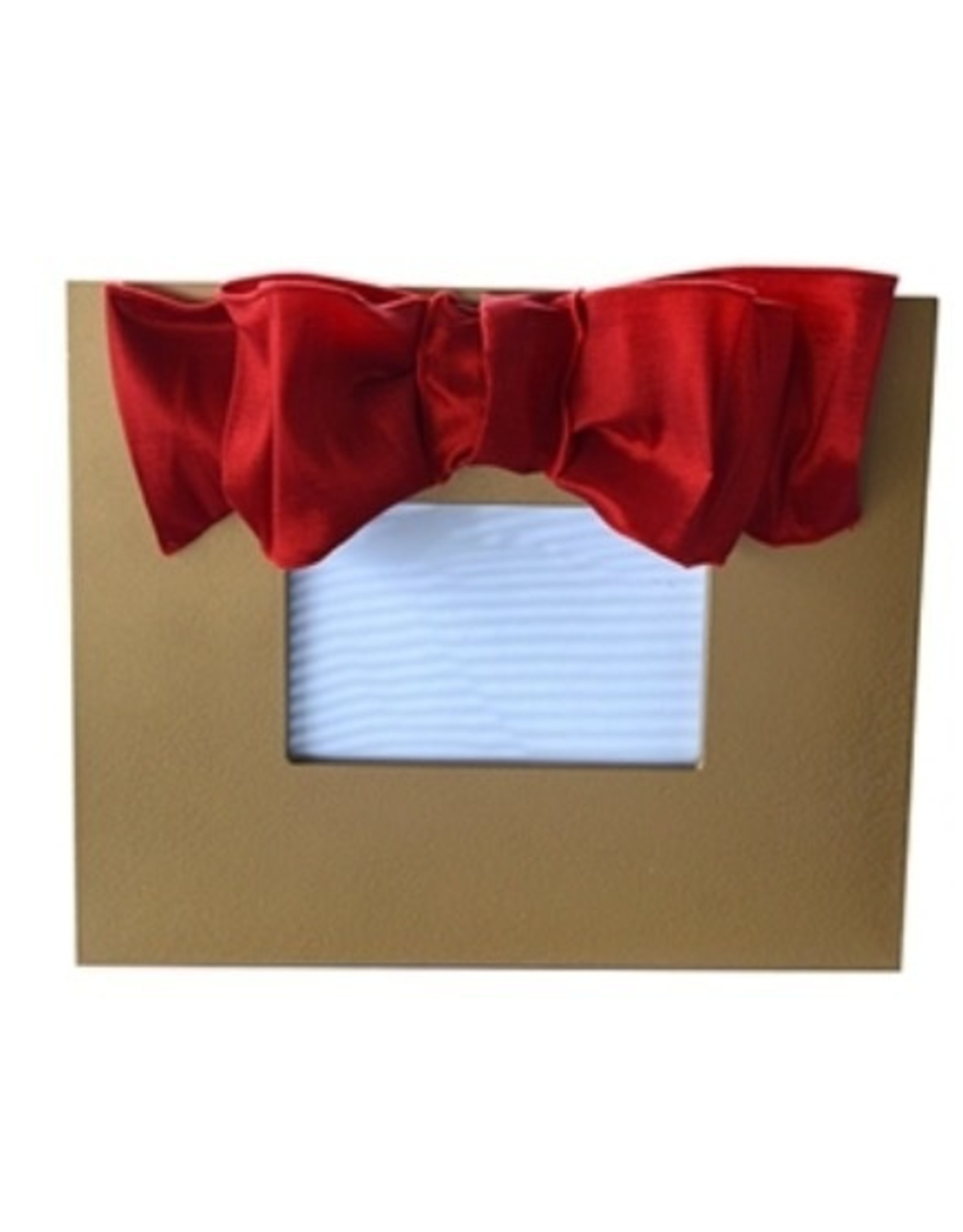 Mainstreet Collection Gold-Red Metallic Bow Frame