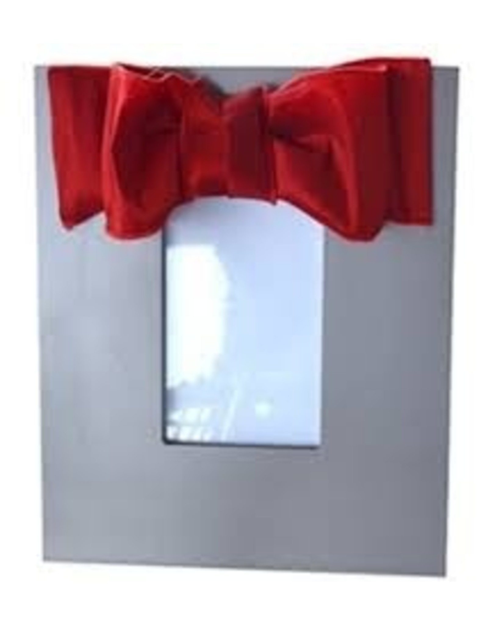 Mainstreet Collection Silver-Red Metallic Bow Frame