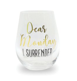 Mary Square Stemless DEAR MONDAY Wine Glass