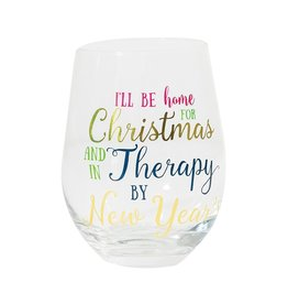Mary Square Stemless THERAPY BY NEW YEARS Wine Glass
