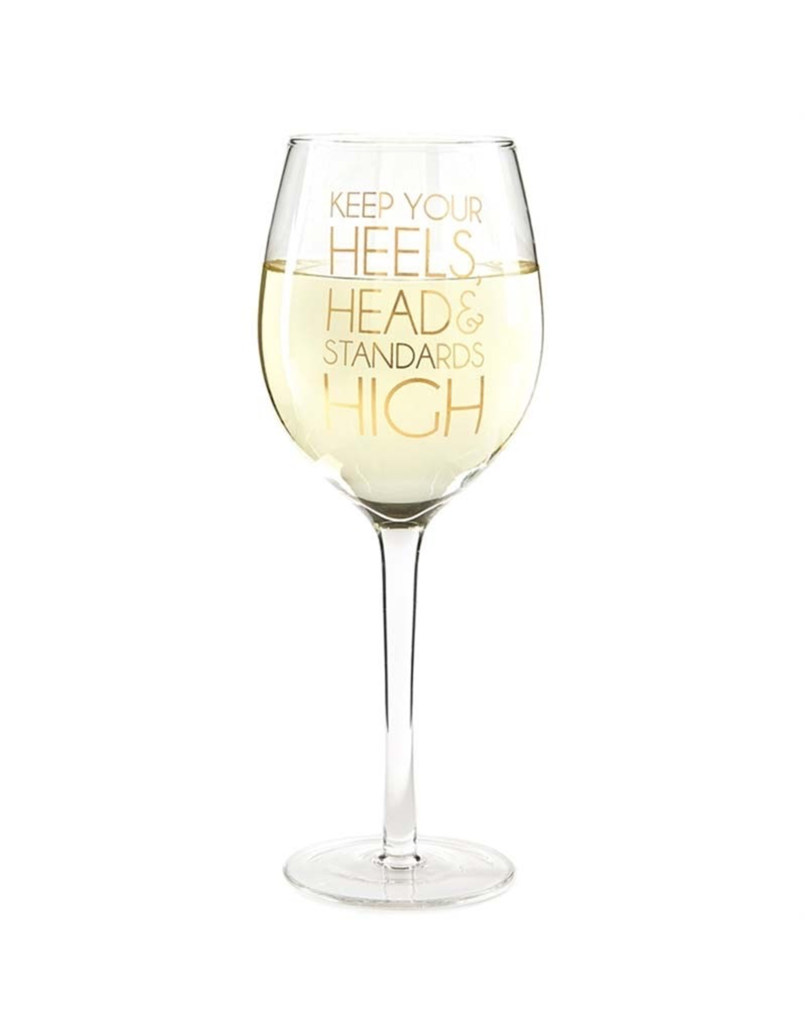 Two's Company Inc. Glam On! Wine Glasses