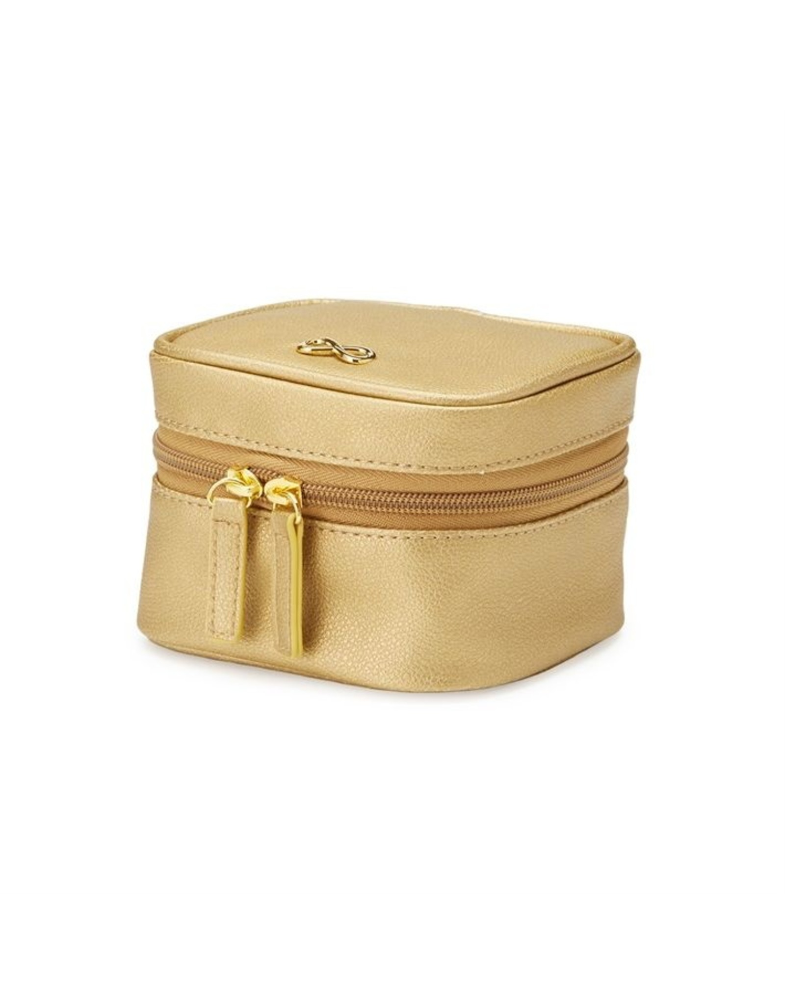 Two's Company Inc. Vegan Leather Jewelry Box - Gold