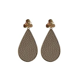 Mary Square Miami Brown Earrings