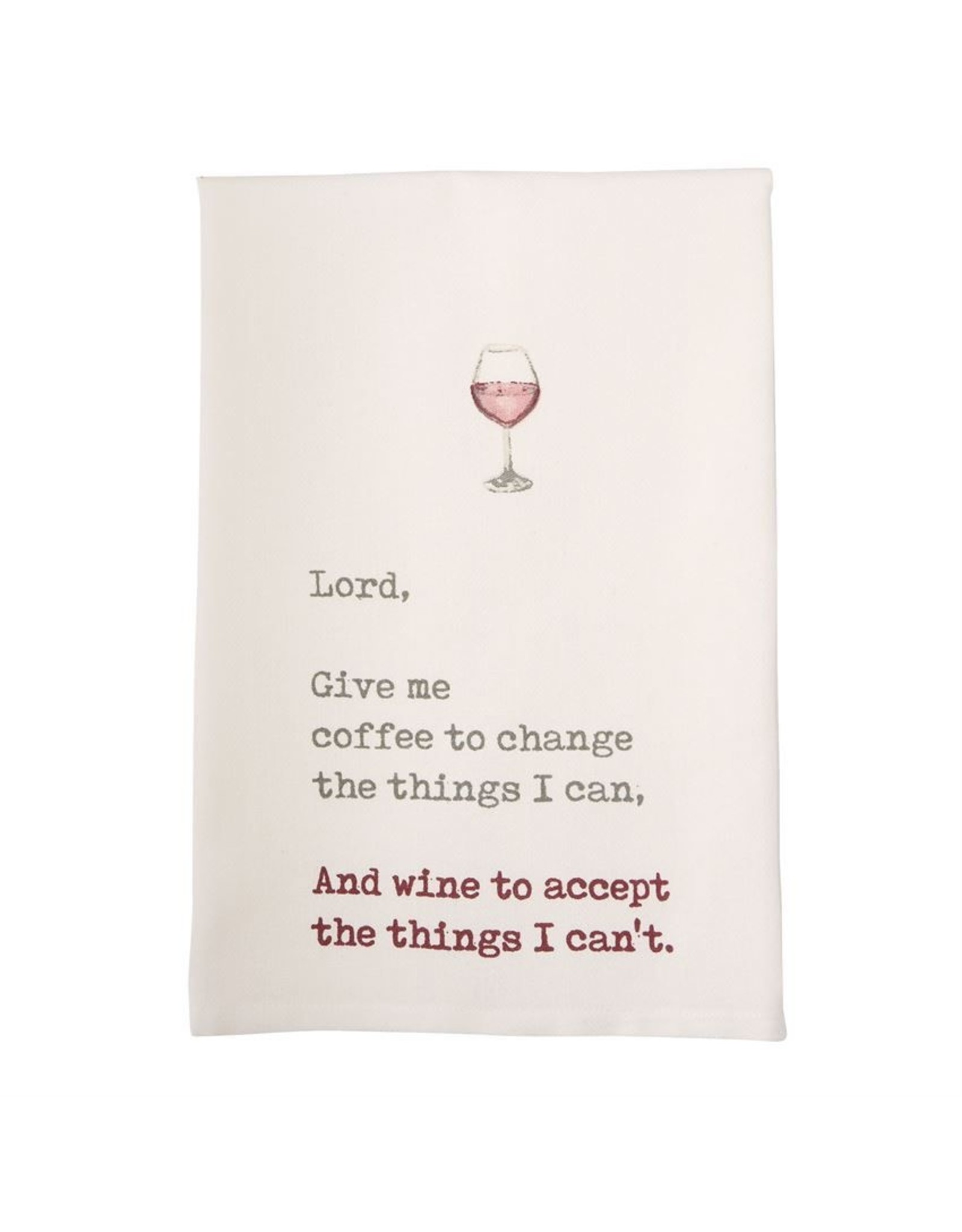 Mudpie Lord, Give Me Wine Printed Hand Towel