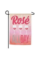 Evergreen Enterprises Rose All Day Garden Linen Flag