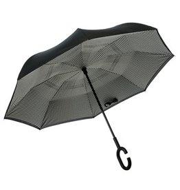 Evergreen Enterprises Buffalo Plaid Inverted Umbrella, Black/White