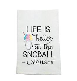 Nola Tawk Life Is Better Snoball Kitchen Towel