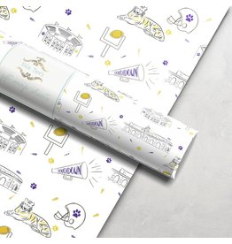 Nola Tawk Purple and Gold Wrapping Paper